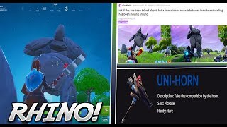 NEU Verschlüsselte RHINO SKIN in-GAME gezeigt! (Fortnite Unreleased SKIN!)