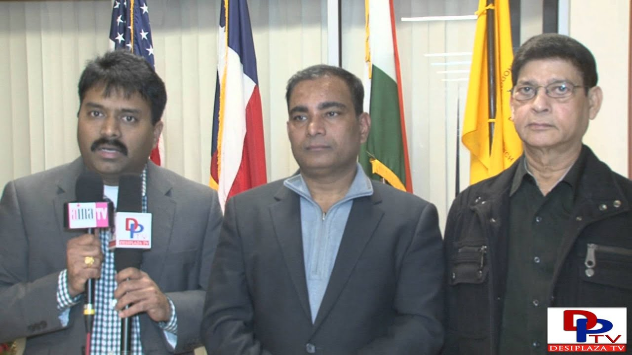 Suresh Manduva,Co cordinator,NATA Convention 2016, speaking to the Media