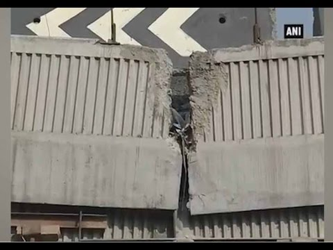 Metro subway construction damages Bhikaji Kama Place flyover