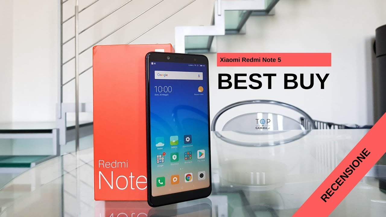 Recensione Xiaomi Redmi Note 5 Best Buy Estate 2018