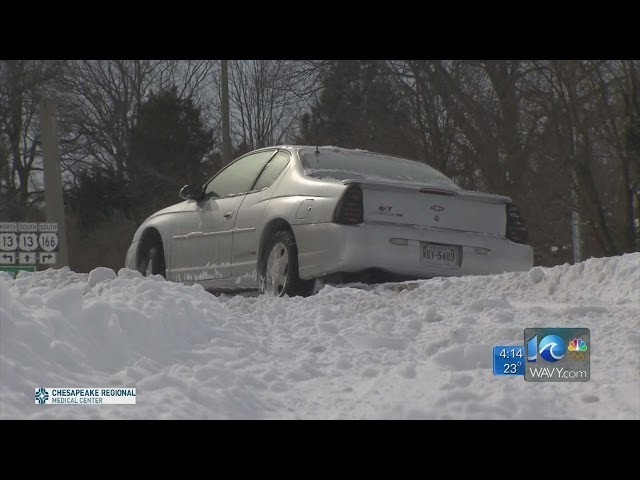 WAVY News 10 Team Coverage of Winter Weather 4 p.m. 1/29/14 Travel Video