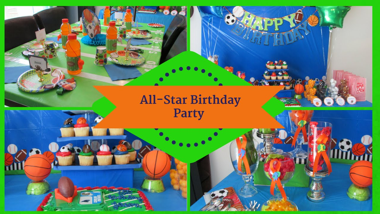 Sports Allstar Birthday Party Dollar Tree Inspired Youtube