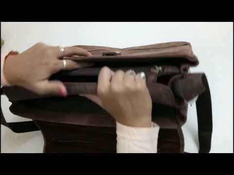 Review of Leaderachi - 100% Pure Genuine Real Vintage Hunter Leather Briefcase Bag