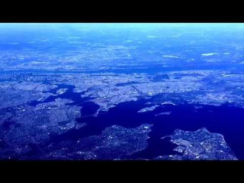 Flying over Manhattan Island (NYC)