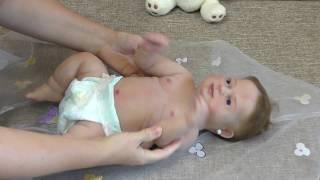 Обложка на видео о Кукла реборн девочка, полностью силиконовая