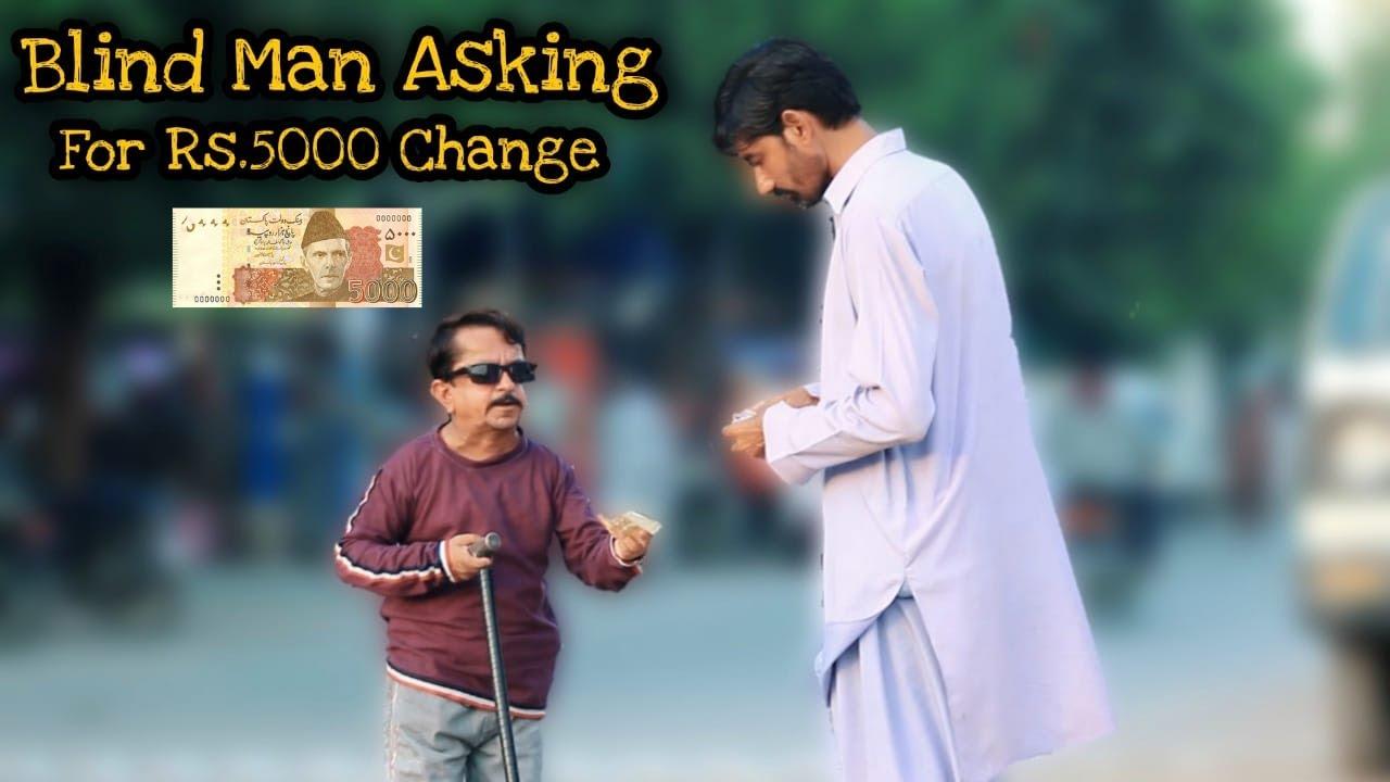 Blind Man Asking For Rs.5000 Change - Blindman Honesty Test | Social Experiment | New Talent 2021