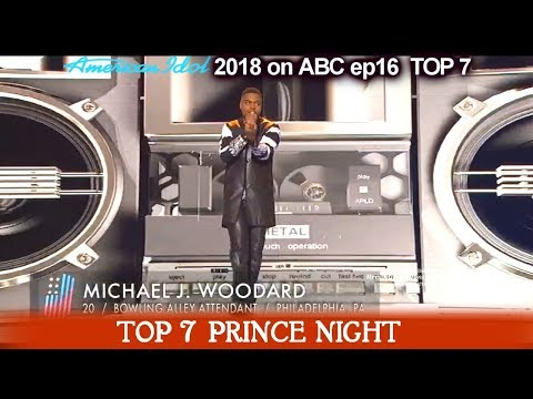 "Michael J. Woodard sings ""I Would Die 4 U"" HE CAN DANCE TOO Prince Night  American Idol 2018 Top 7"