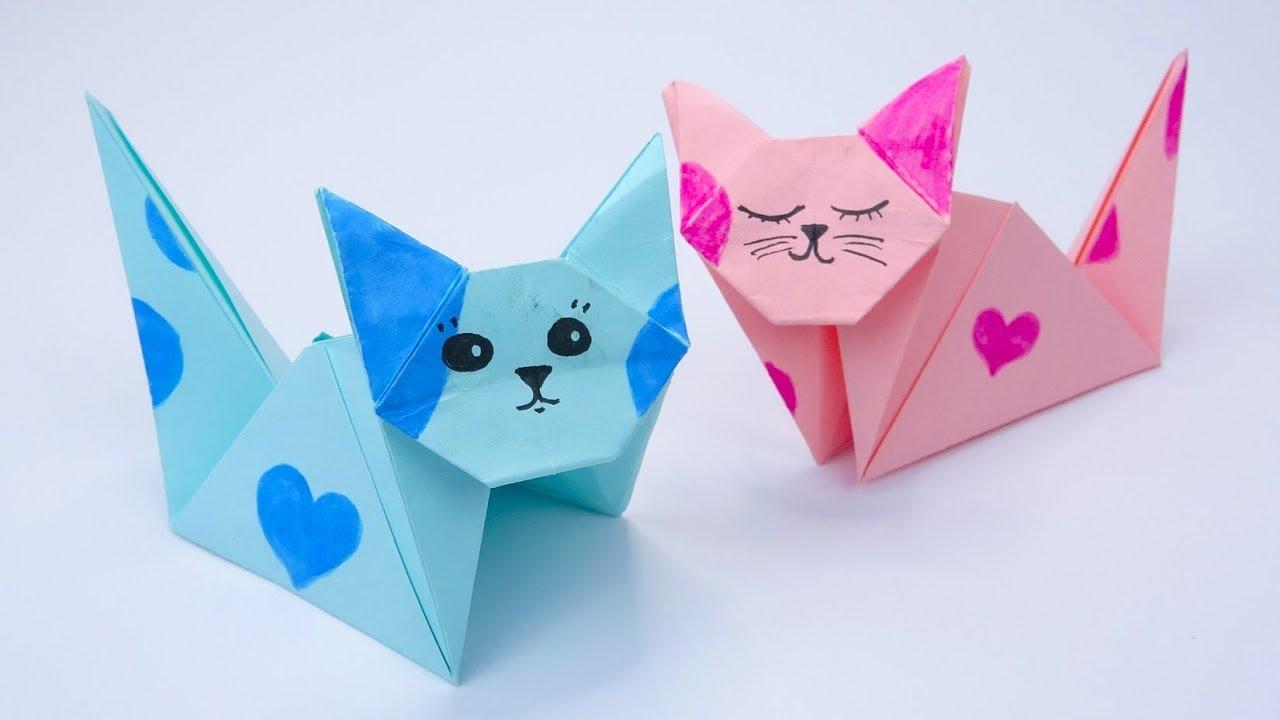 кот оригами картинка том, что