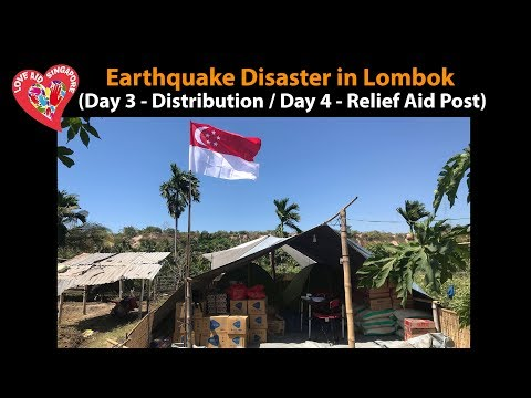 Earthquake Disaster in Lombok - (Day 3 & 4) Humanitarian Aid