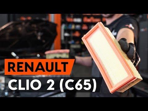 Как заменить воздушный фильтр двигателя на RENAULT CLIO 2 (C65) [ВИДЕОУРОК AUTODOC]