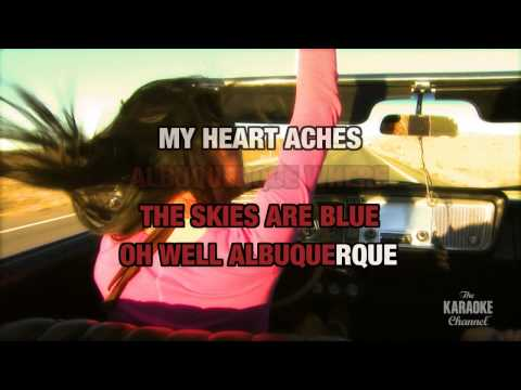 Albuquerque in the style of Sons Of The Desert | Karaoke with Lyrics