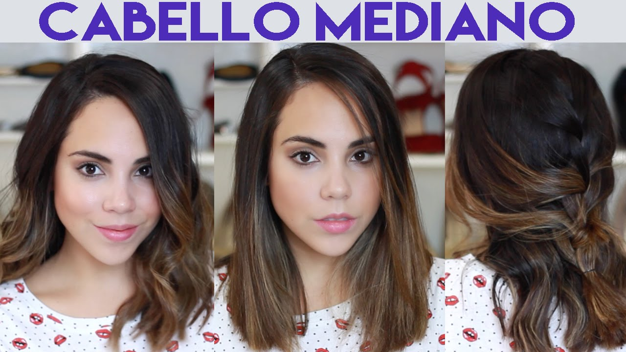 Como Peino Mi Cabello Mediano Midi What The Chic Youtube