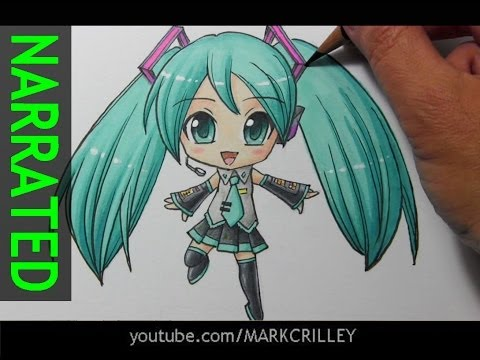 How to Draw Chibi Hatsune Miku [Narrated Step by Step]