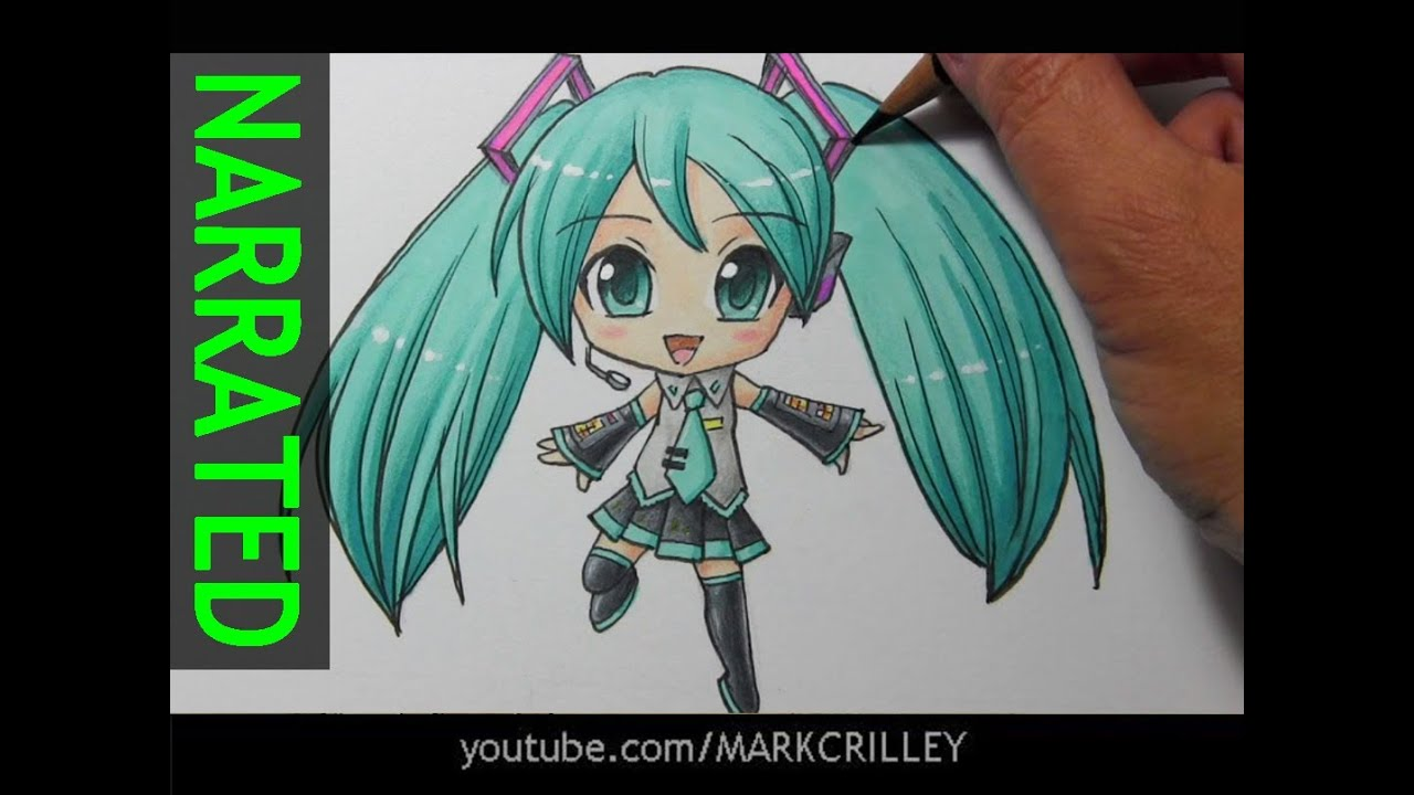How To Draw Chibi Hatsune Miku Narrated Step By