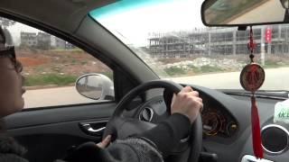 Видео поездки на электромобиле JAC