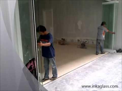 Inkaglass Semi Frameless Glass Folding Door Youtube