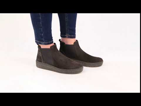 4b7f6db752b Gabor Lourdes Pepper Womens Grooved Sole Chelsea Ankle Boots - YouTube