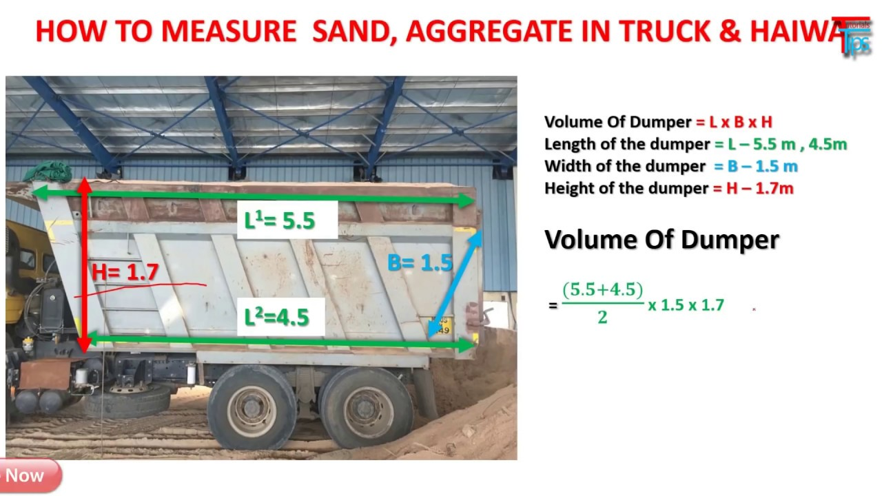 How To Measure Sand Aggregate Truck Vehicle At Site Youtube