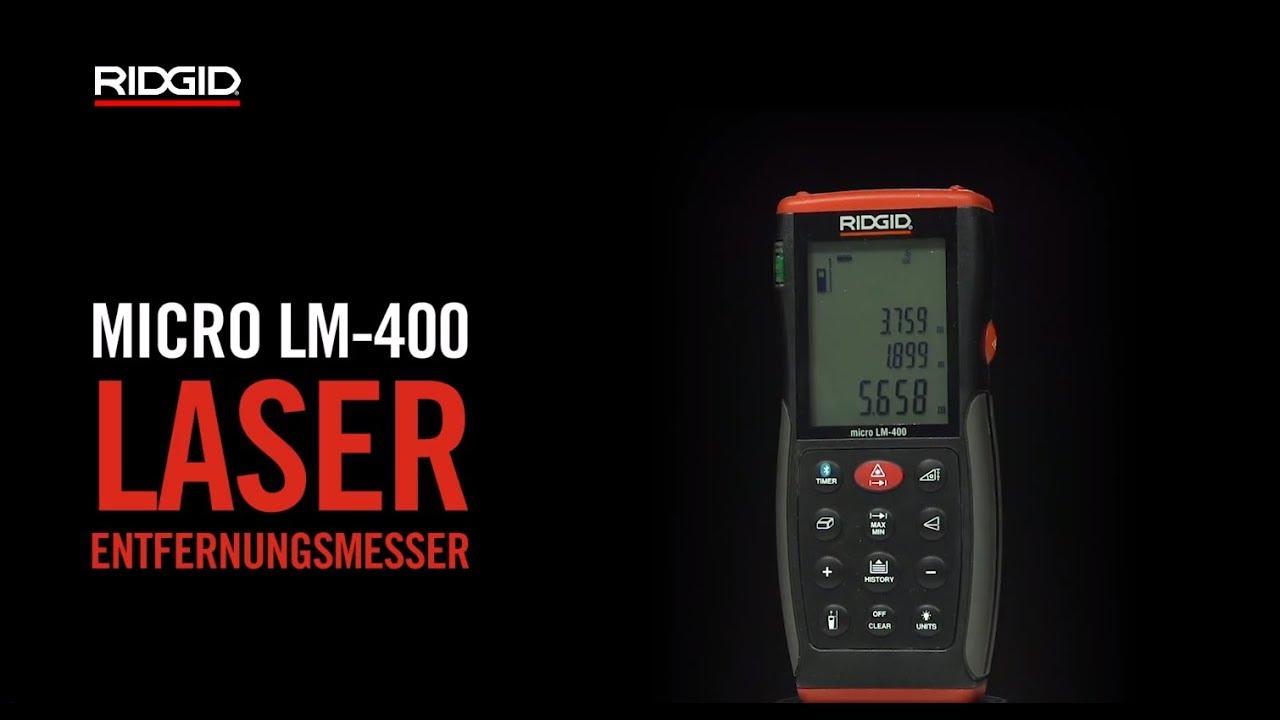 Entfernungsmesser Mit Yt : Ridgid micro lm laser entfernungsmesser youtube