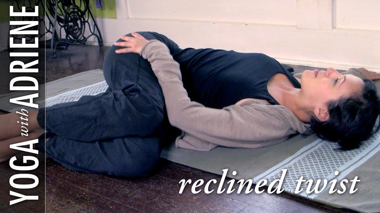 Reclined Twist Yoga Pose - Yoga With Adriene - Yoga Videos | Grokker
