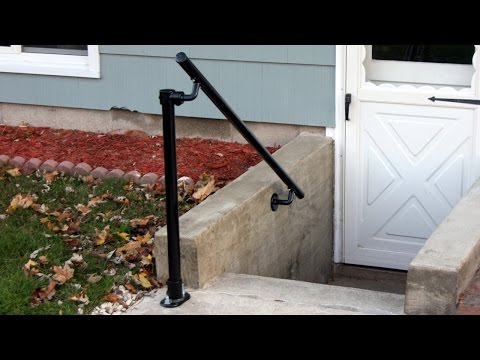 How to Build a Handrail the Attaches to Wall and Ground
