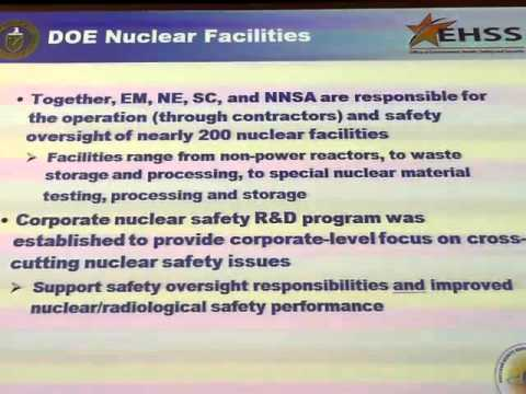 Nuclear Safety Research and Development at the Department of
