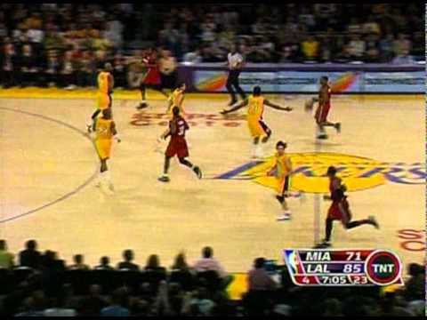 02 28 2008   Heat vs  Lakers   Jordan Farmar Highlights