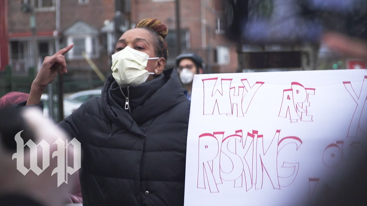 New York health-care workers rally for protective gear