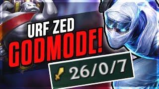 URF ZED GOD RETURNS - HERE'S WHY ZED IS #1 OP   League of Legends