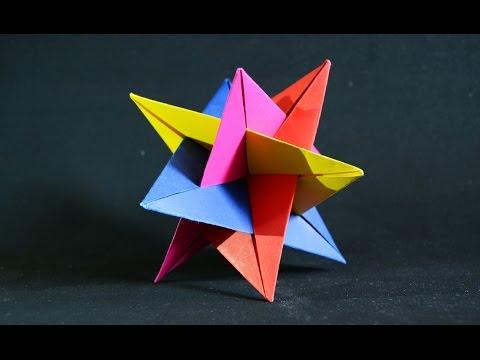 Origami Kusudama 3d Star Youtube