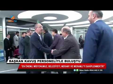 Başkan Kavuş personeliyle buluştu