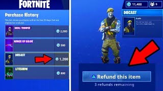 THE ONLY WORKING WAY TO REFUND ITEMS IN FORTNITE