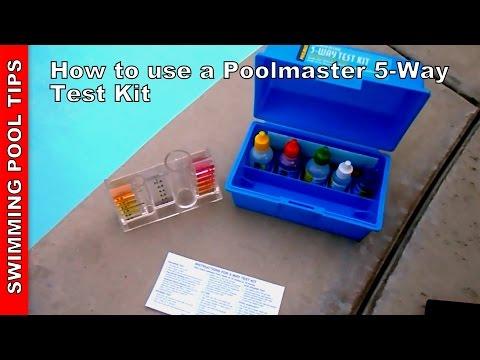 Pool Test Kit 5-way, How to Use aPoolmaster 22260 5-way test kit
