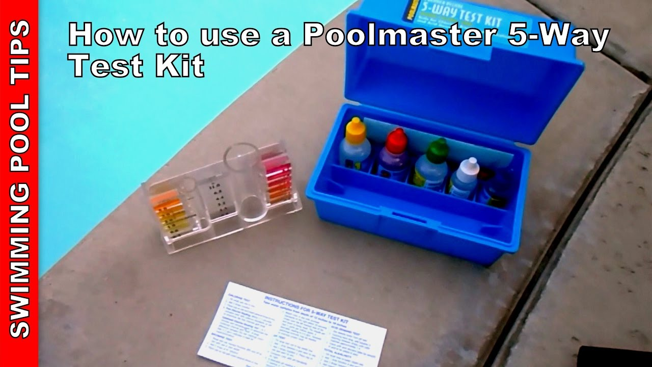 Pool test kit 5 way how to use apoolmaster 22260 5 way for Swimming pool test