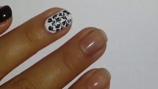Маникюр разводами Видео урок по дизайну ногтей Маникюр в домашних условиях. Маникюр