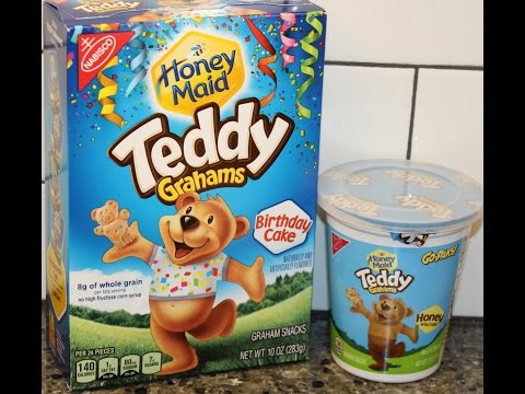 Teddy Grahams: Birthday Cake & Honey Review
