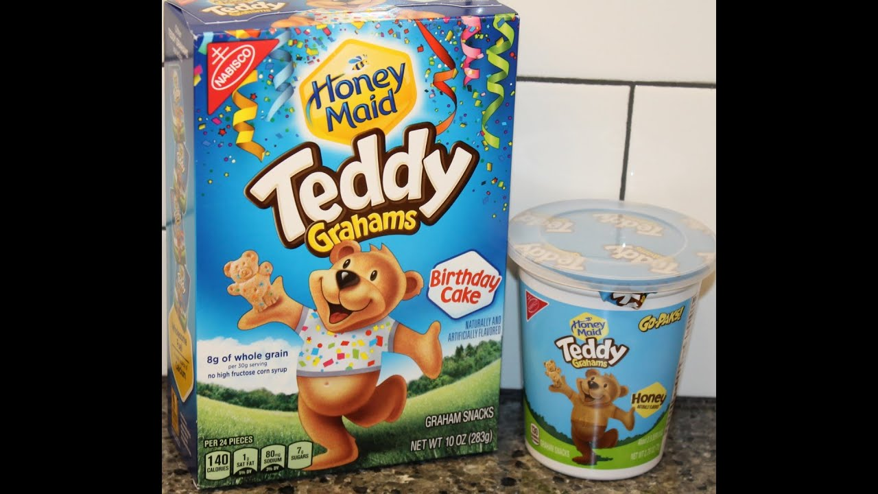 Teddy Grahams: Birthday Cake & Honey Review