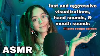 ASMR   Fast Hand Sounds, Mouth Sounds, And Visualizations (Recipes)