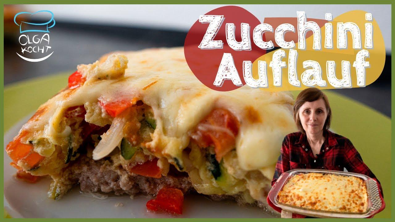 Zucchini Auflauf mit Hackfleisch und viel Gemüse - Saftig & Kalorienarm