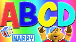 The Letters A B C D | Learn The Alphabet With Phonics | ABC Harry Nursery Rhymes & Kids Songs