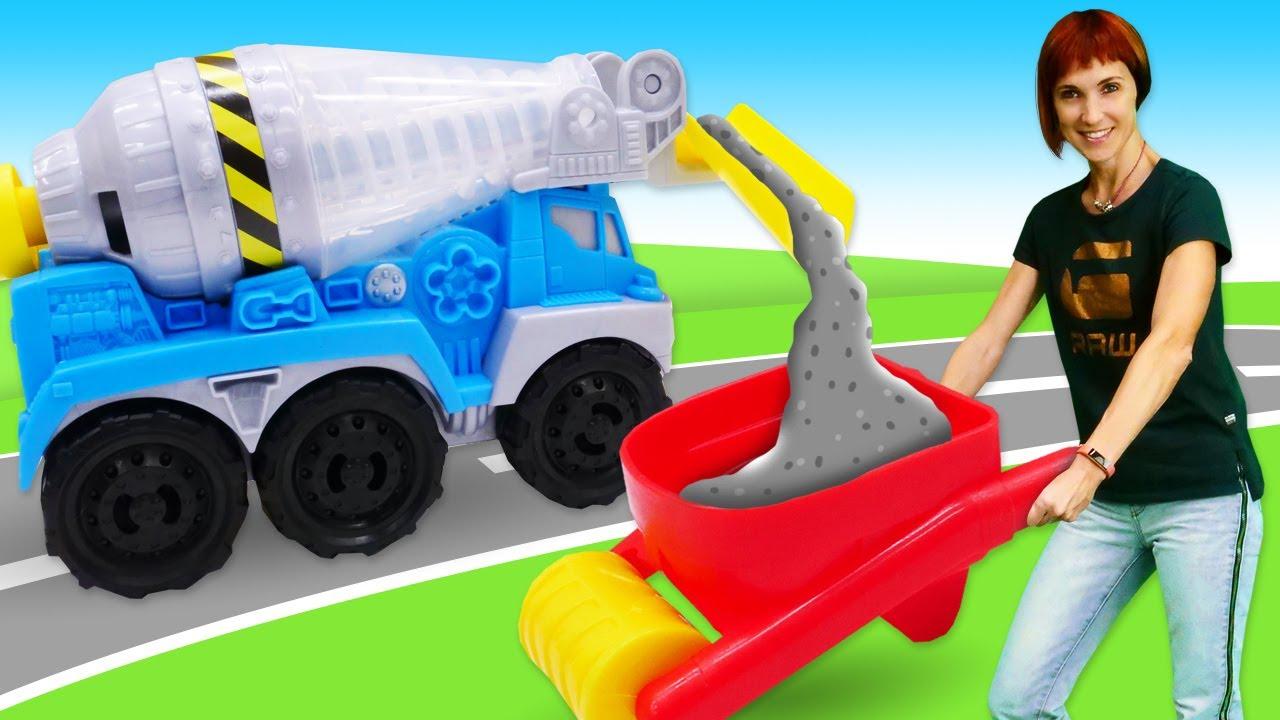 Новая бетономешалка Play-Doh - Маша Капуки Кануки строит дорогу! - Развивающие игрушки для детей