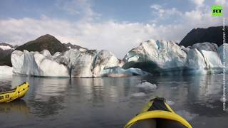 'Coolest thing I've ever done in my life': Two kayakers survive Alaska glacier collapse
