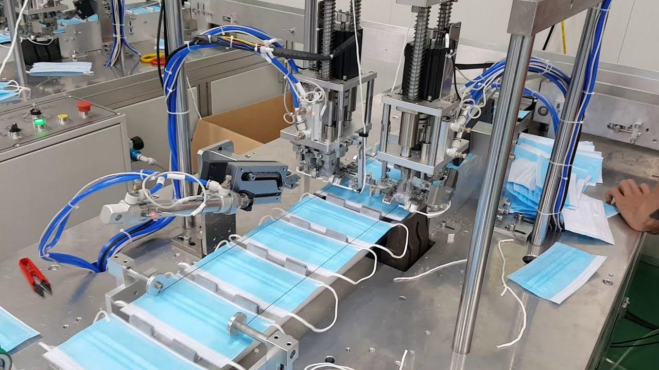 Sửa chữa dây chuyền sản xuất khẩu trang, máy hàn khẩu trang - YouTube