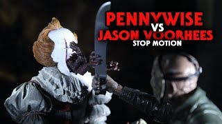 Pennywise Vs Jason Voorhees Stop Motion