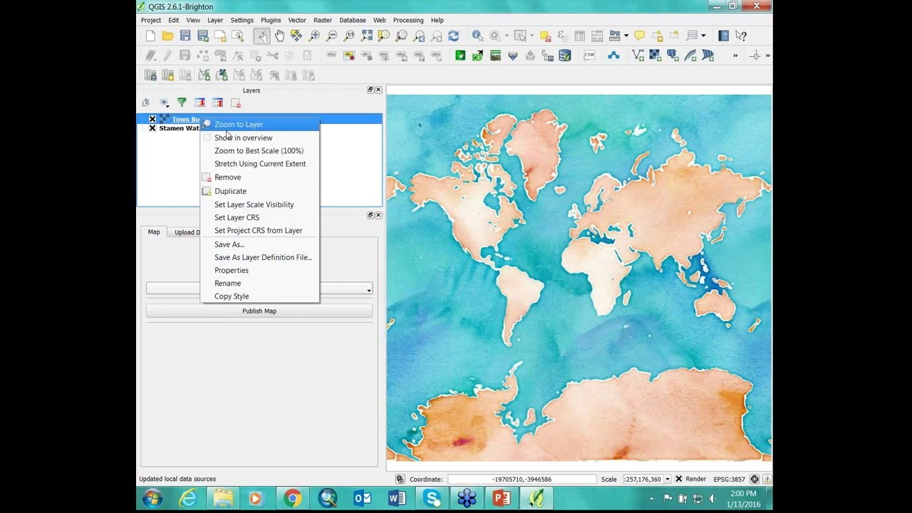 QGIS Cloud: Creating Simple Online Maps
