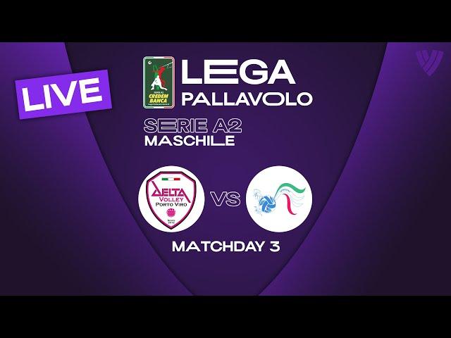 LIVE 🔴 Porto Viro vs. Mondovi - Men's Serie A2   2021
