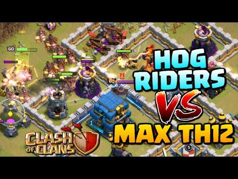 HOG RIDERS vs MAX TOWN HALL 12! Hogs TH12 3 Star Attack Strategy - Clash of Clans Update!