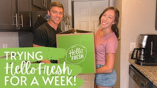 TRYING HELLOFRESH FOR A WEEK!