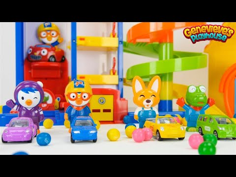 Best Toddler Learning Video for Kids Learn Colors & Counting with Pororo the Little Penguin Toy Cars