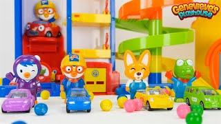 Best Toddler Learning for Kids Learn Colors & Counting with Pororo the Little Penguin Toy Cars
